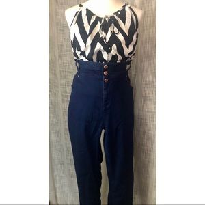 *PLUS* ASOS Blue High Waisted Jeans Size US 20